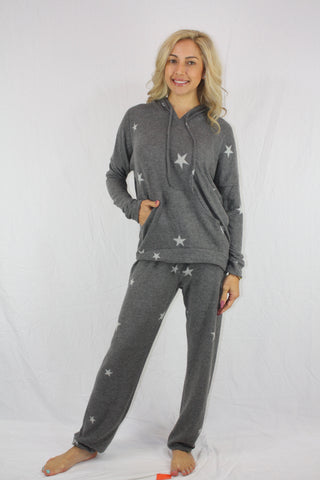 Dark Grey Star Casual Comfort