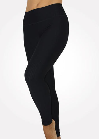 Black Texture Legging