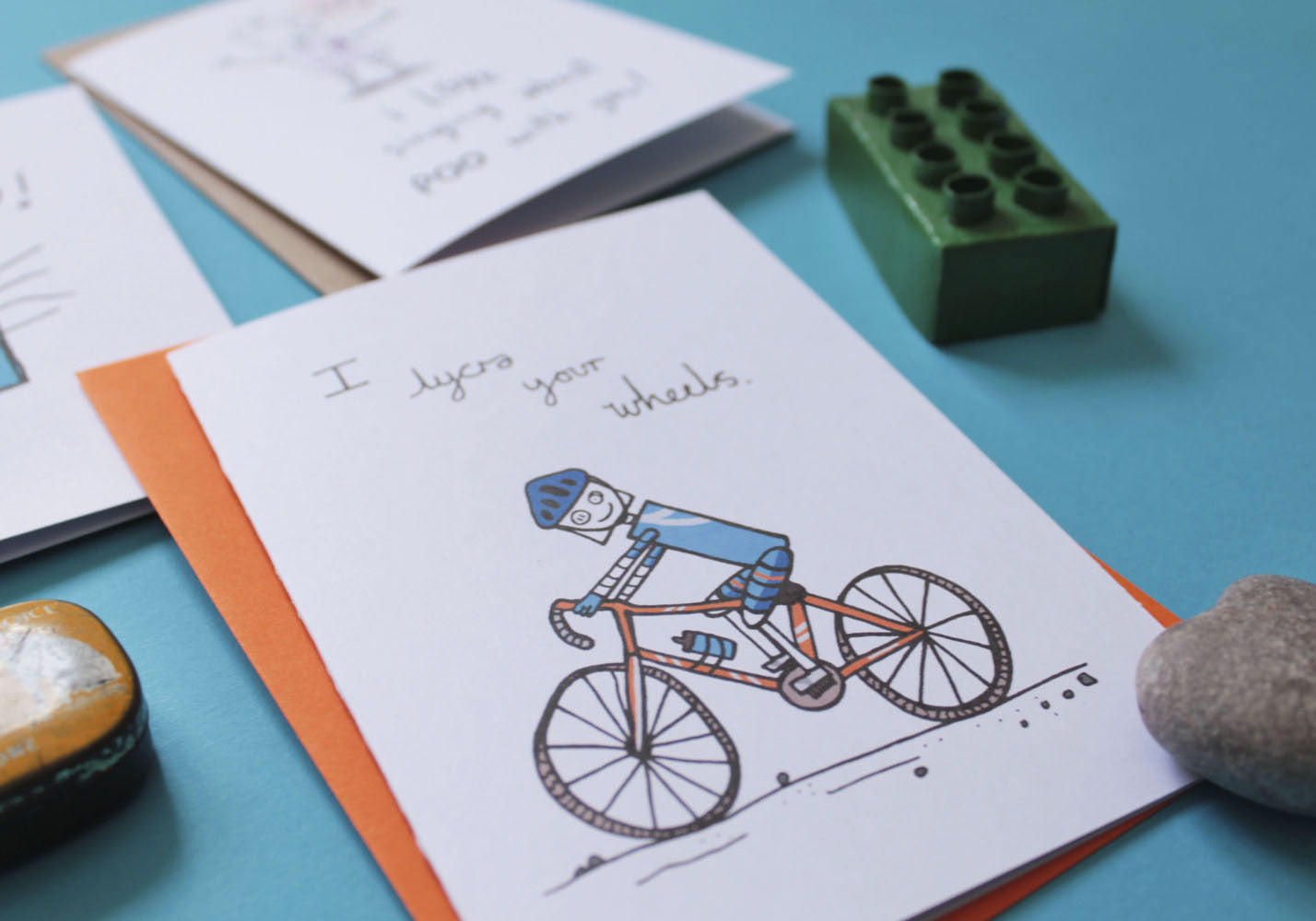 Debmon Design Lycra Your Wheels Bike Card