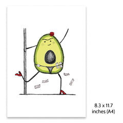 Pole Dancing Avocado Print