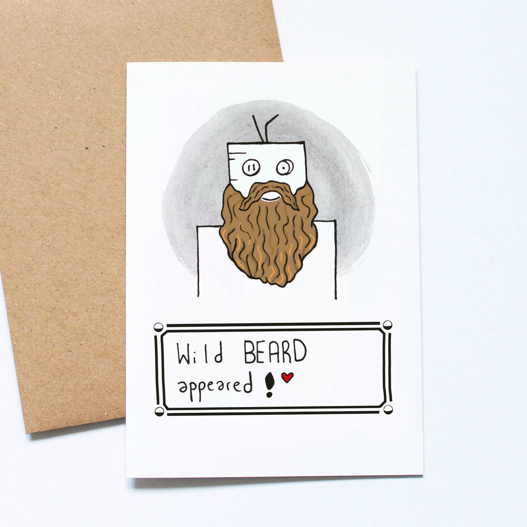 Wild beard Pokemon card.