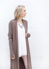 Fringe Duster Sweater - Brown