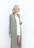 Long Sleeve Duster with Fringe - Moss