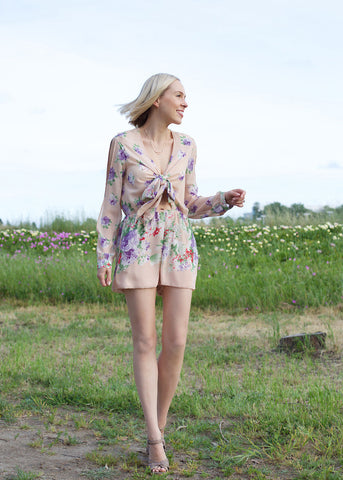 Marion Printed Chiffon Romper