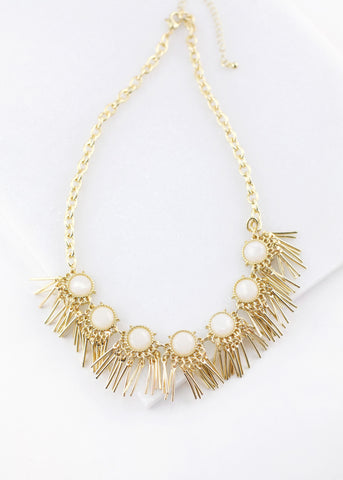 Ivory Stone Statement Necklace