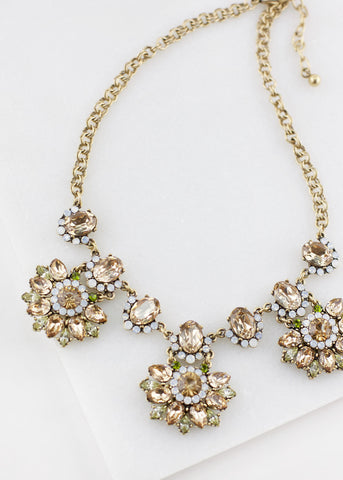 Gem Drop Necklace - Champagne