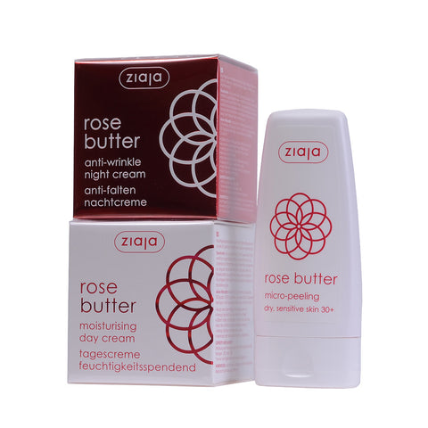 Rose Butter Bundle: Day & Night Cream, Micro-Peeling