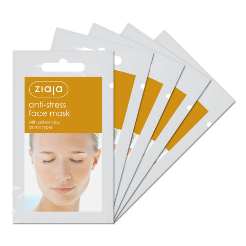 Clay Face Mask - Anti-Stress with Yellow Clay - Pack of 5
