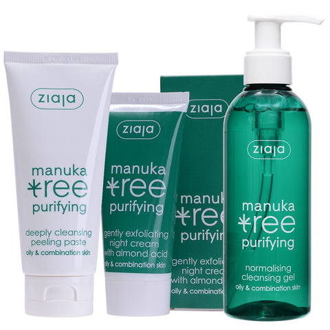 Manuka Tree Bundle: Night Cream, Cleansing Gel & Cleansing Peeling Paste