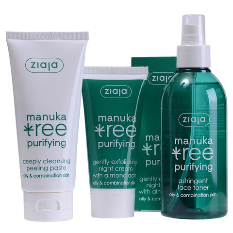 Manuka Tree Bundle: Night Cream, Face Toner & Cleansing Peeling Paste