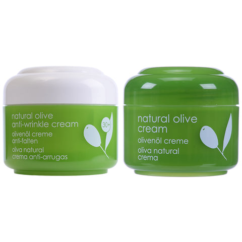 Natural Olive Oil Cream & Natural Olive Anti-Wrinkle - Clearance 61% off