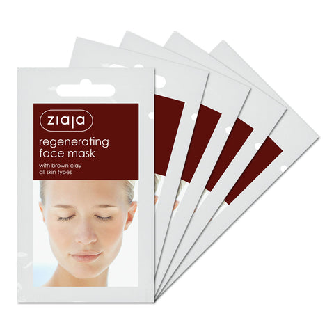 Clay Face Mask - Regenerating with Brown Clay - Pack of 5