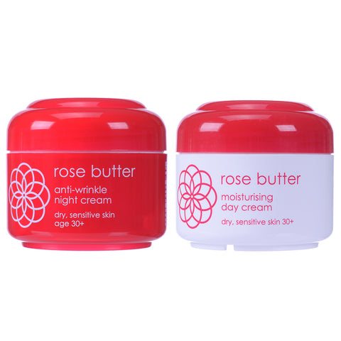 Rose Butter Day Cream & Night Cream - Clearance 50% off