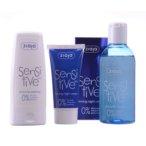 Sensitive Skin Bundle: Night Cream, Micellar Water, Enzyme Peeling