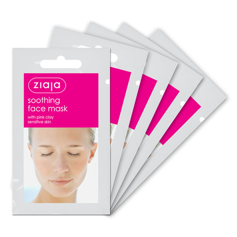 Clay Face Mask - Soothing with Pink Clay - Pack of 5