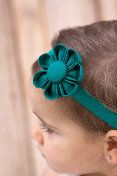 Emerald Green Kanzashi Fabric Flower-Available in 4 Styles - Hold It!
