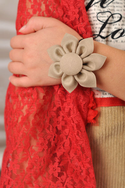 Stone Kanzashi Fabric Flower-Available in 4 Styles - Hold It!