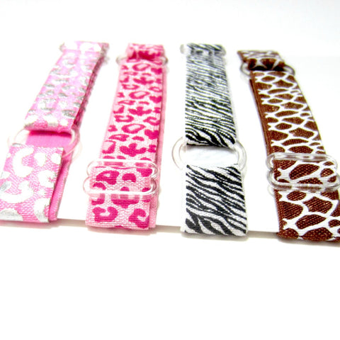 Adjustable Elastic Headband-Set of 4 Animal Prints