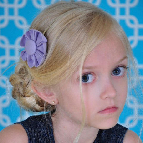 Lavender Kanzashi Fabric Flower-Available in 4 Styles - Hold It!