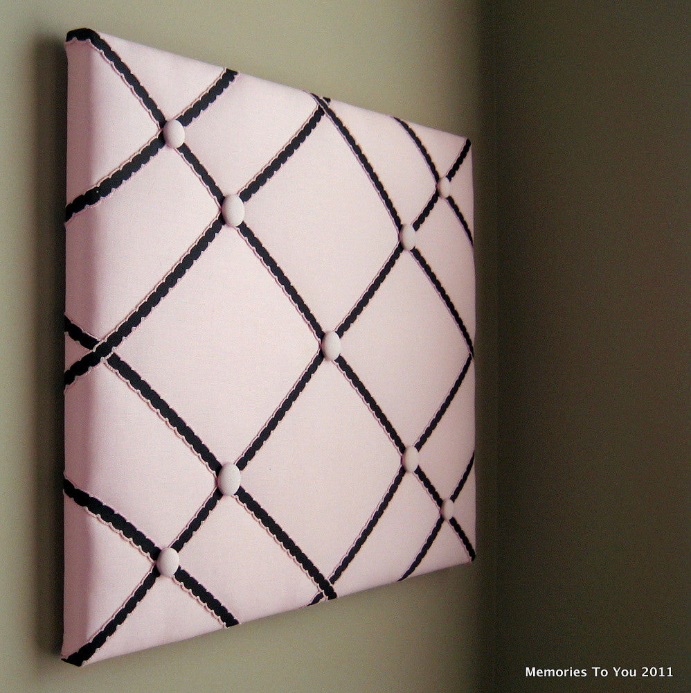 "16""x20"" Memory Board or Bow Holder-Pink & Black - Hold It!"