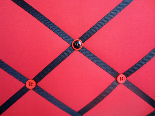 "16""x20"" Memory Board or Bow Holder-Red & Black - Hold It!"