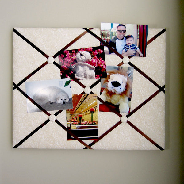 "11""x14"" Memory Board or Bow Holder-Etched Paisley Ivory - Hold It!"