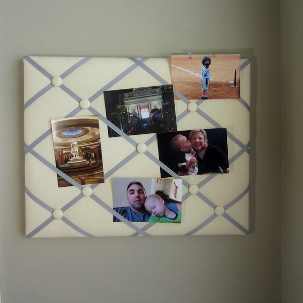 "16""x20"" Memory Board or Bow Holder-Yellow & Grey - Hold It!"