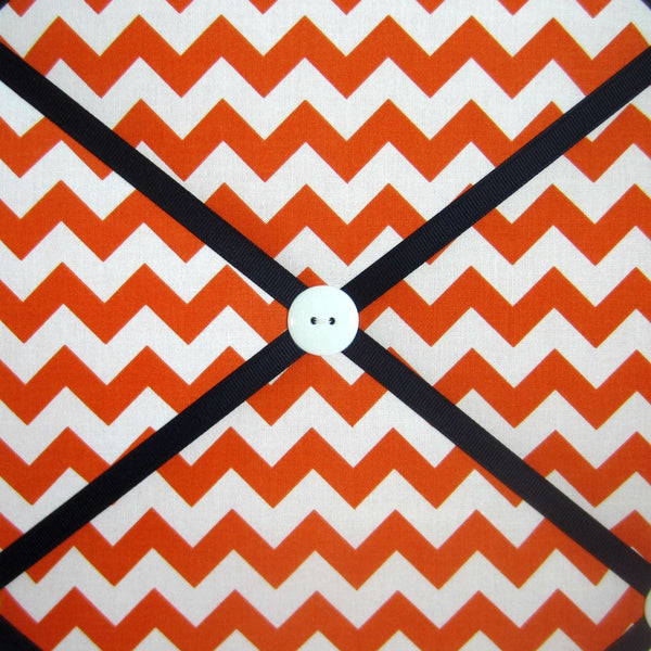 "16""x20"" Memory Board or Bow Holder-Orange Chevron - Hold It!"