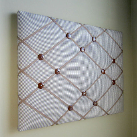 "16""x20"" Memory Board or Bow Holder-Brown Gingham - Hold It!"
