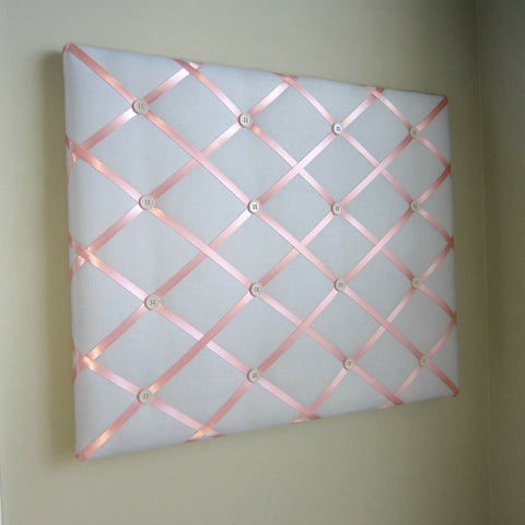 "16""x20"" Memory Board or Bow Holder-Ash Grey & Coral - Hold It!"
