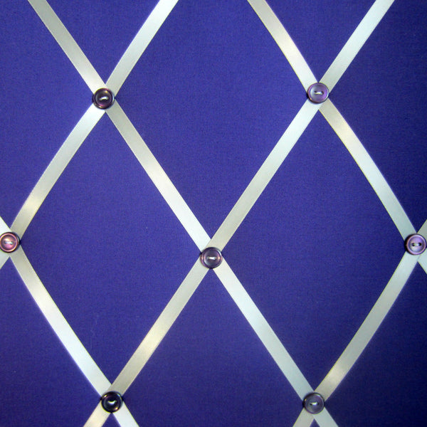 "16""x20"" Memory Board or Bow Holder-Purple & Silver - Hold It!"