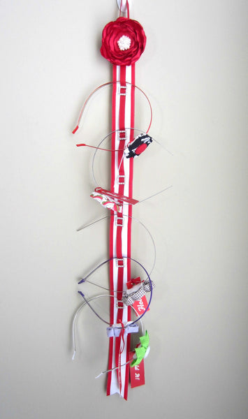 Red and White  Headband Organizer - Hold It!