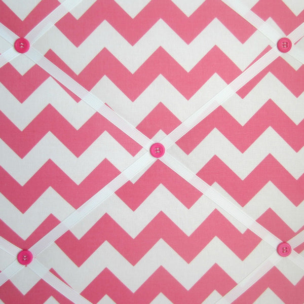 "16""x20"" Memory Board or Bow Holder-Hot Pink Chevron - Hold It!"