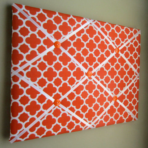 "16""x20"" Memory Board or Bow Holder-Orange Quatrefoil - Hold It!"