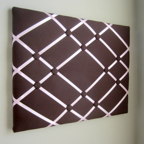 "16""x20"" Memory Board or Bow Holder-Brown & Pink - Hold It!"