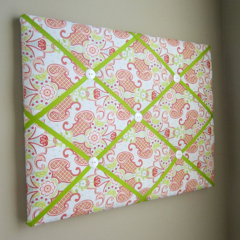 "11""x14"" or 16""x20"" Memory Board or Bow Holder-Bijou Blue, Pink, Coral - Hold It!"