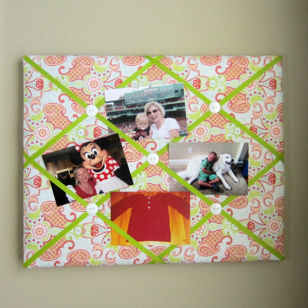 "16""x20"" Memory Board or Bow Holder-Bijou Blue, Pink, Coral - Hold It!"