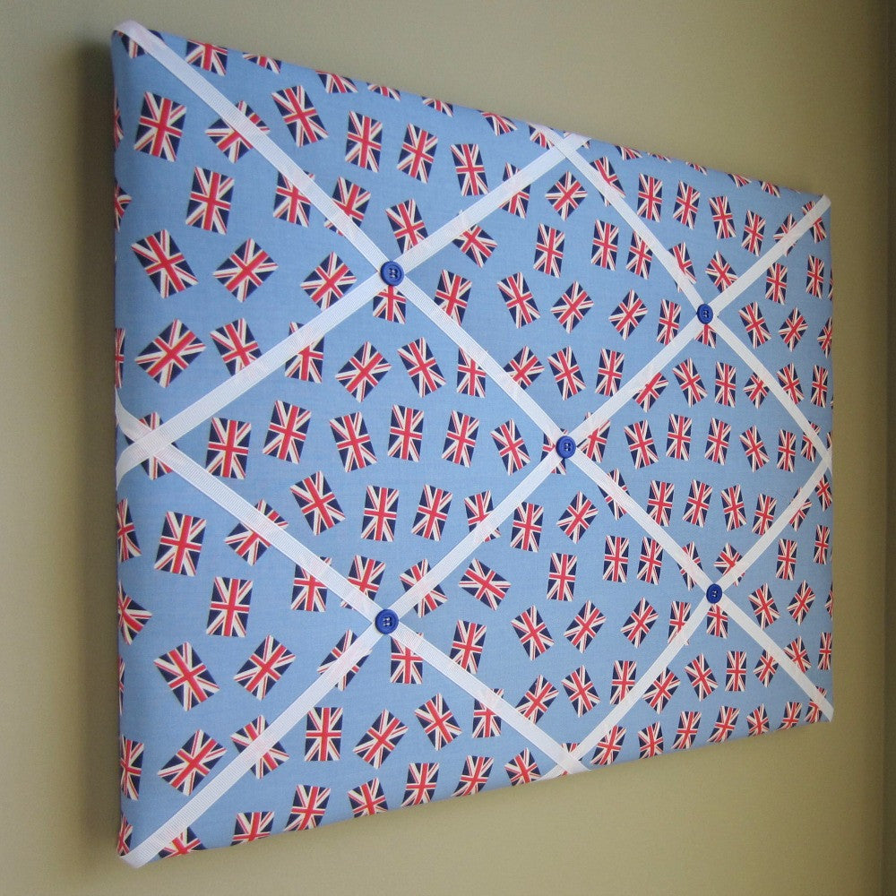 "16""x20"" Memory Board or Bow Holder-London Calling Blue Union Jack - Hold It!"
