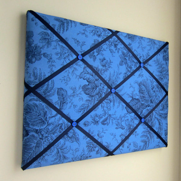 "16""x20"" Memory Board or Bow Holder-Dark Blue Ink Floral - Hold It!"