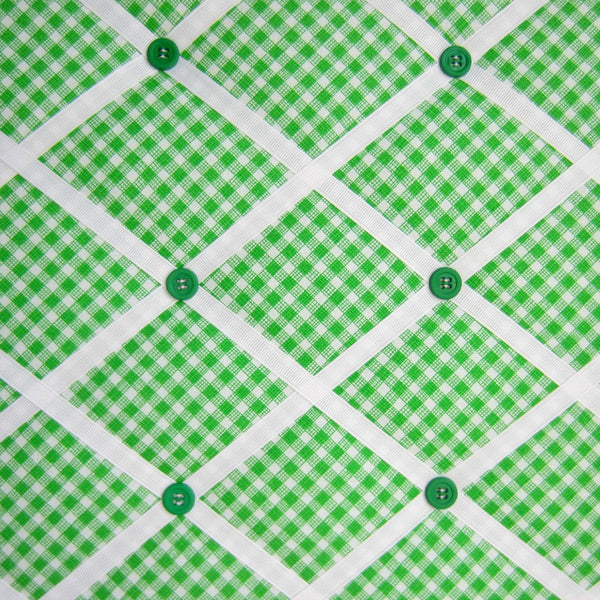 "16""x20"" Memory Board or Bow Holder-Green Sketch Bias Gingham - Hold It!"