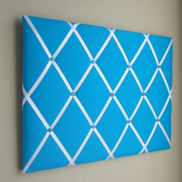"16""x20"" Memory Board or Bow Holder-Turquoise & White - Hold It!"