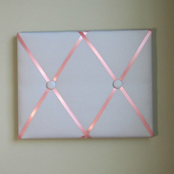 "11""x14"" Memory Board or Bow Holder-Ash Grey & Coral - Hold It!"