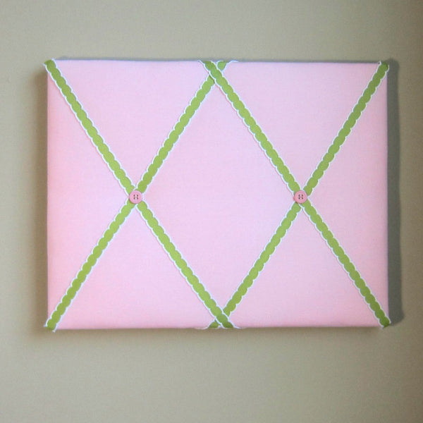 "11""x14"" Memory Board or Bow Holder-Pink & Lemongrass Green - Hold It!"