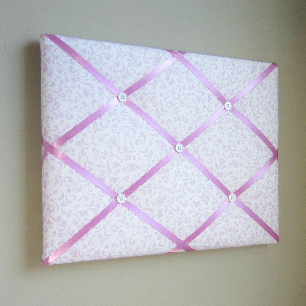 "11""x14"" Memory Board or Bow Holder-Pink Scroll - Hold It!"