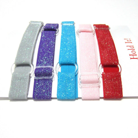Adjustable Elastic Headband-Set of 5 Bright  Glitter - Hold It!