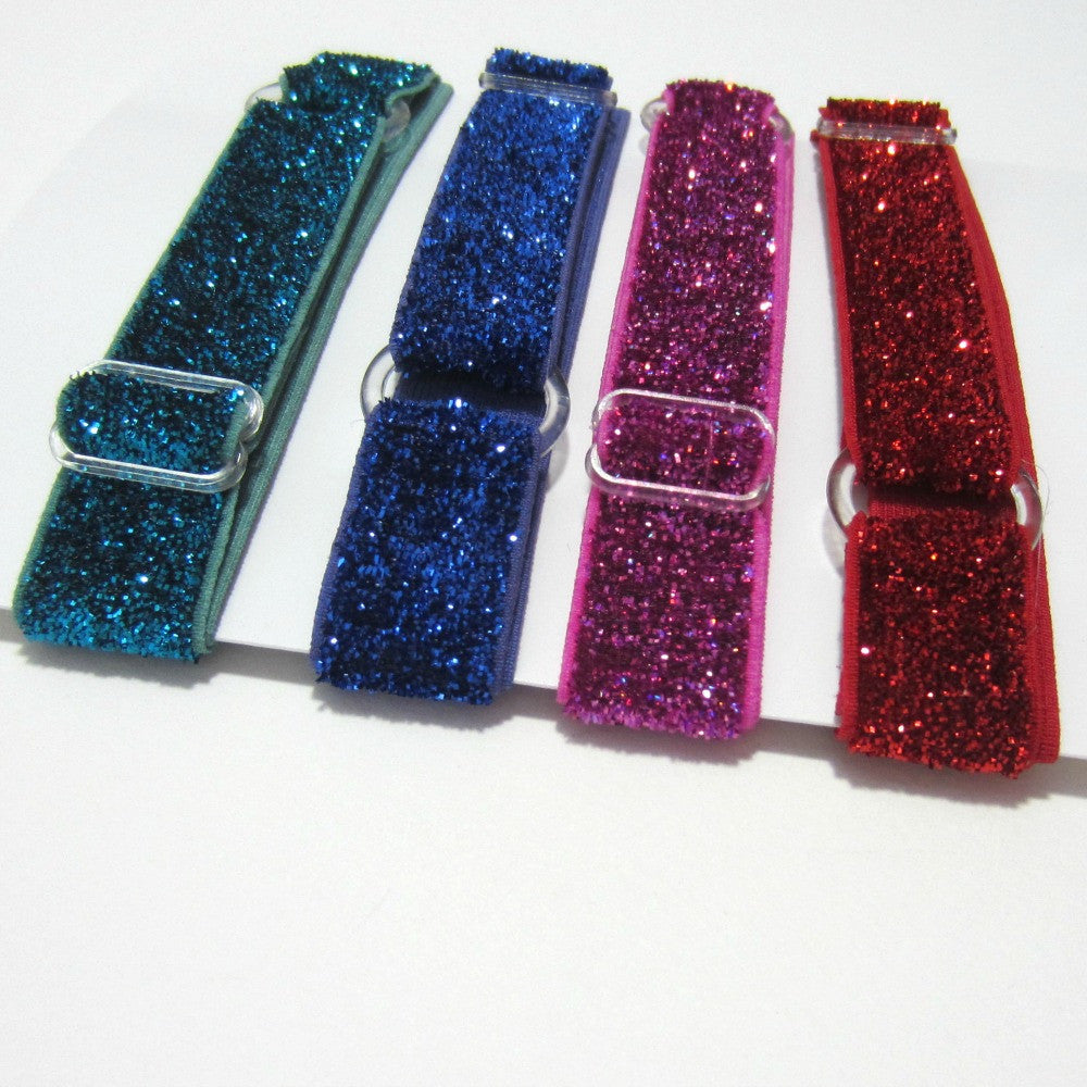 Adjustable Elastic Headband-Set of 4 Jewel Frost Glitter - Hold It!