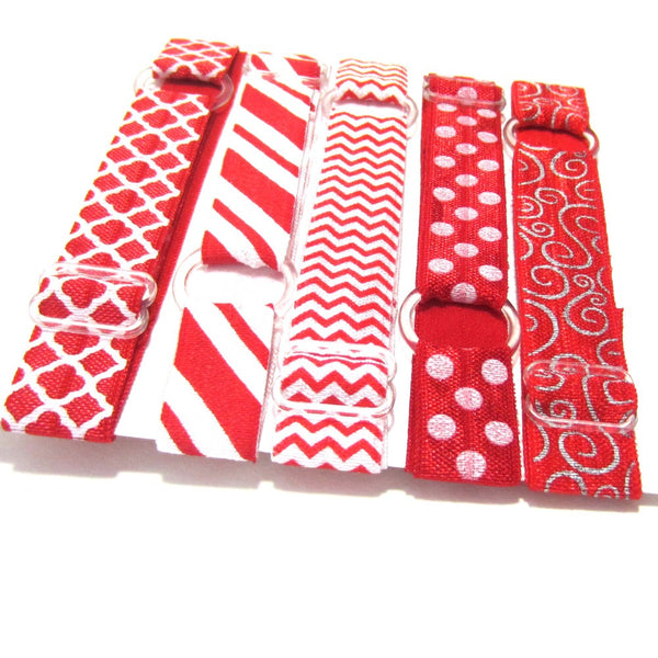 Adjustable Elastic Headband-Set of 5 Reds - Hold It!