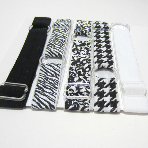 Adjustable Elastic Headband-Set of 5 Black & White - Hold It!