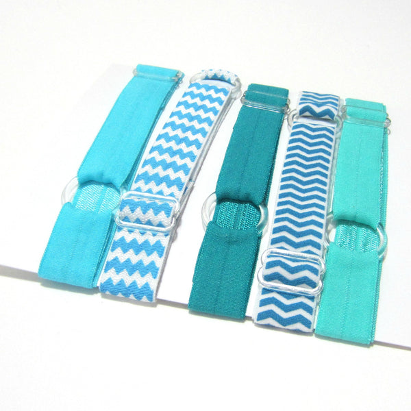 Adjustable Elastic Headband-Set of 5 Greens - Hold It!