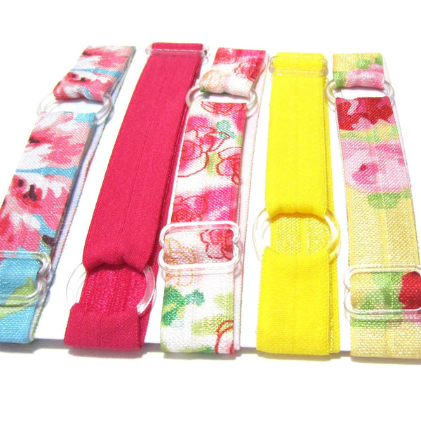 Adjustable Elastic Headband-Set of 5 Floral - Hold It!
